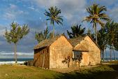 Maison traditionnelle, océan indien et cocotier — Stock Photo