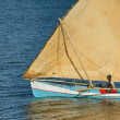 Close up on little dhow in Mahajanga bay - Stock fotografie
