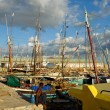 Docker and dhows in historic harbour - Stock fotografie