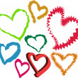 Royalty-Free Stock Vector: Loving Hearts