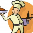 Illustration of a Chef's profession — Stok Vektör