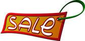 Vector sale label — Stock Vector