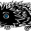 Little funny Hedgehog - Stock Vector