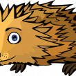 Little funny Hedgehog — Stock Vector