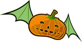 Flying Pumpkin — Stock Vector