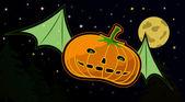 Flying Pumpkin — Stock Vector