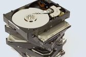 Stack of Hard Drives — Stock Photo