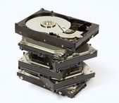 "Stack of 3.5"" Hard Drives — Stock Photo"