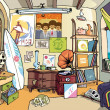 Stockvector : Surfer's room