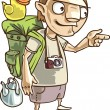 The backpacker. - Stock Vector