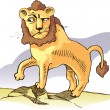 Surprised lion. - Stock Vector