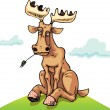 Resting dull moose. - Stock Vector