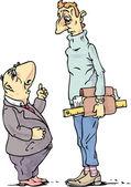 Pequeno e alto — Vetor de Stock