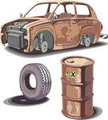 Viejo y oxidado. — Vector de stock
