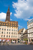 Strasbourg main place — Stock Photo