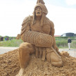 Sand sculptures festival — Stockfoto