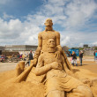 Sand sculptures festival — Foto Stock