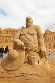 Sand sculptures festival — Stock Photo
