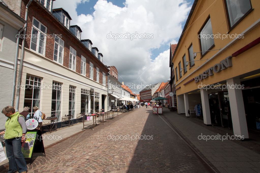 A way of Ribe city — Stock Photo #6820140
