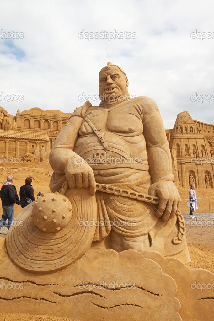 Sand sculptures festival in Denmark  Foto Stock #6821219