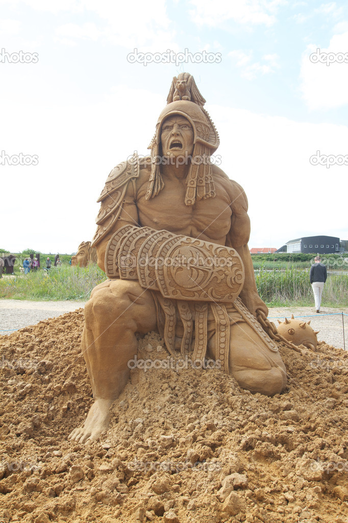 Sand sculptures festival in Denmark — Stock Photo #6821347