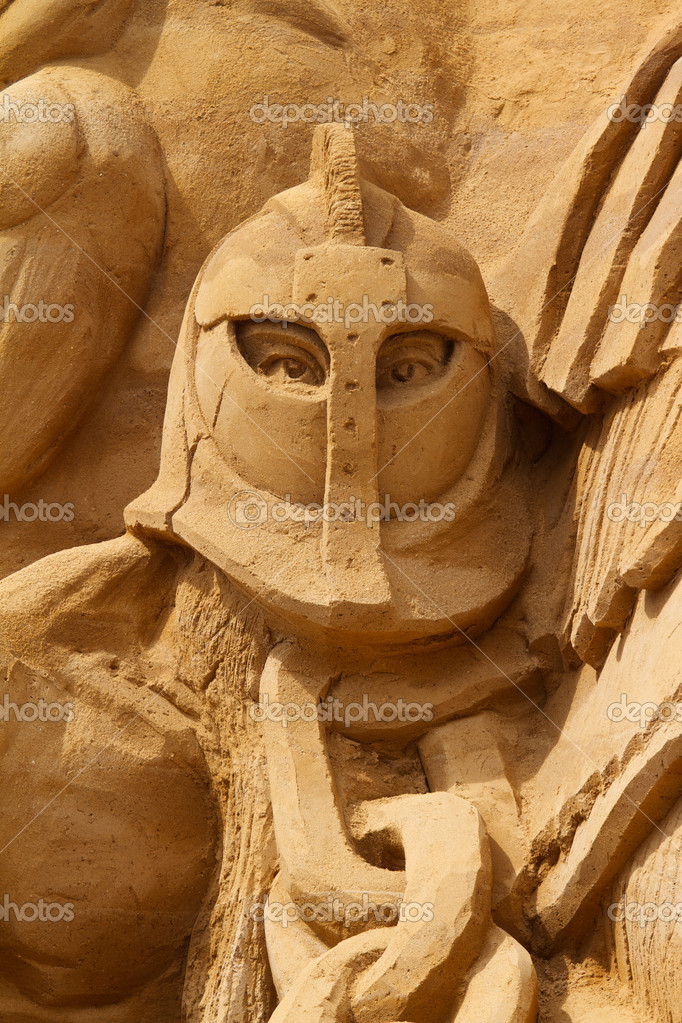 Sand sculptures festival in Denmark — Stock Photo #6822410
