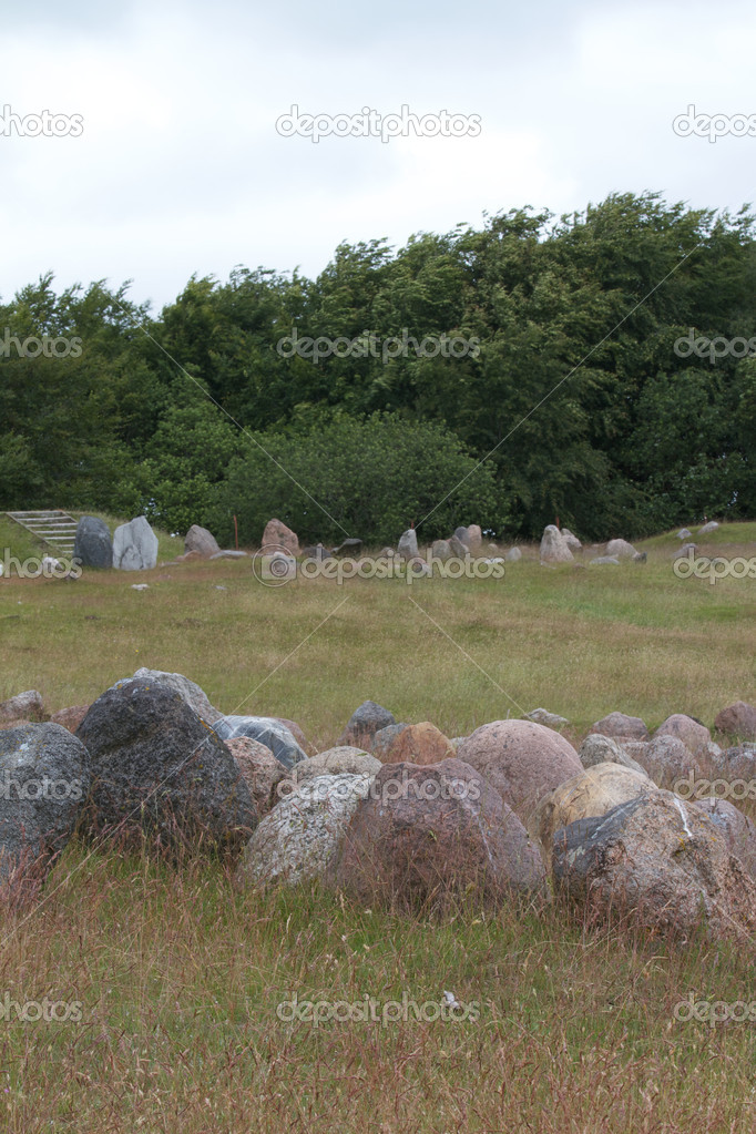 Viking Cemetery in Denmark — Stock Photo #6823110