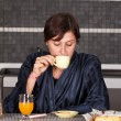 Breakfast girl — Stock Photo