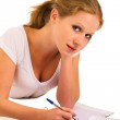 A young student preparing for the exam — Stock Photo