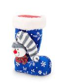 Christmas stocking on white background — Stock Photo