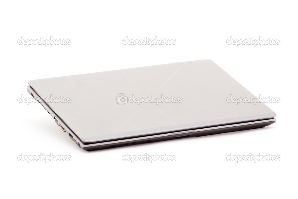 Gray modern trendy laptop on a white background  Stock Photo #7312361