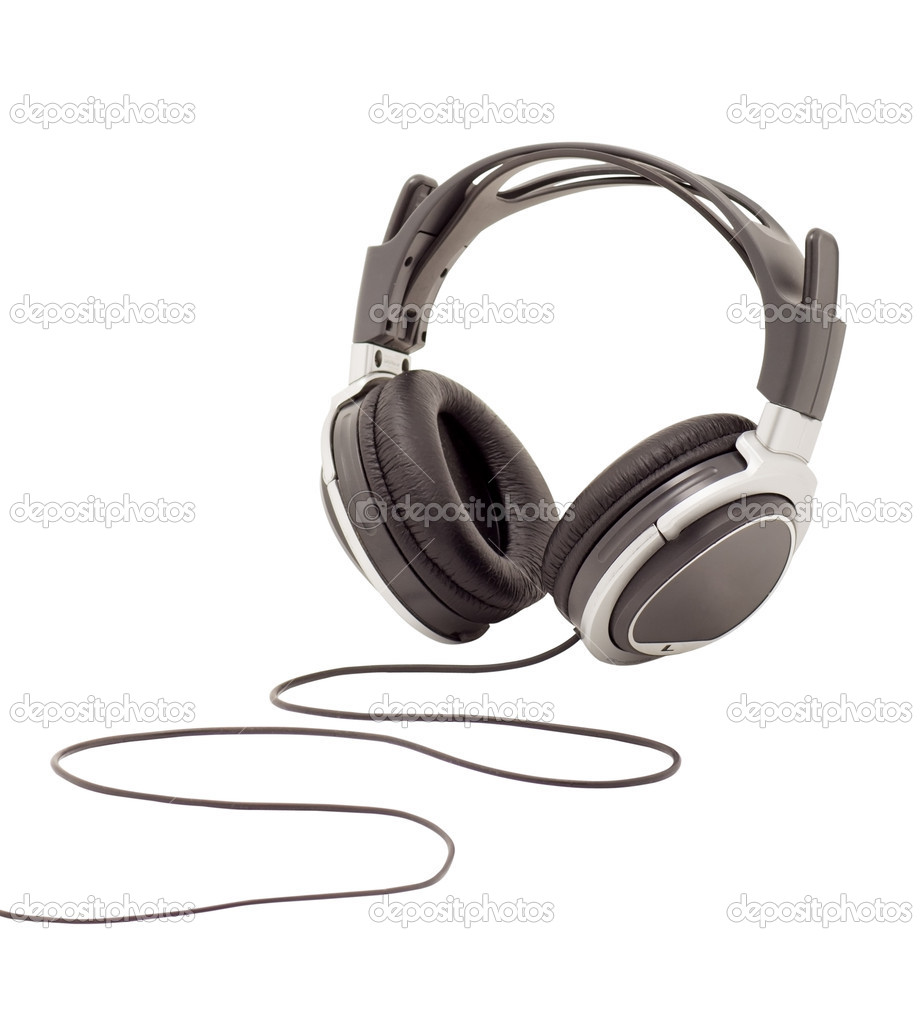 Unbranded modern headphones on a white background  Stock Photo #7312373
