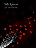 Valentine`s day card with red hearts — Stockfoto