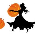 For halloween pumpkins — Stock Vector