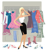 Nothing to dress2 — Stock Vector
