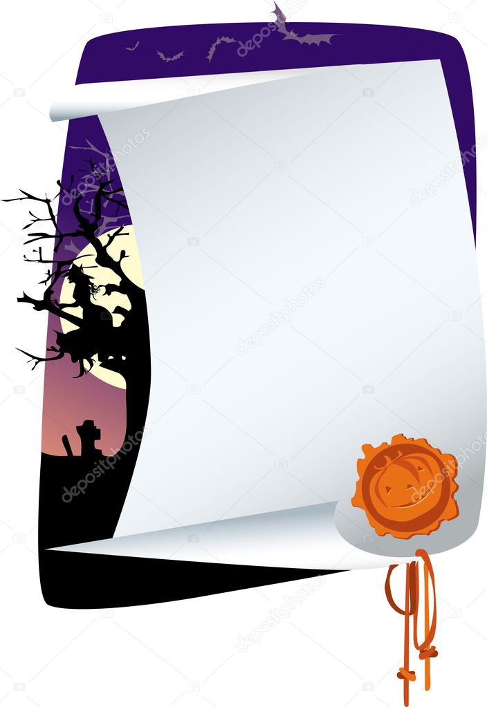 Halloween invitation  Stock Vector #6819845