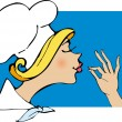 Stock Vector: Lady Chef
