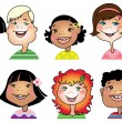 Children cartoon — Imagen vectorial