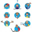Schoolchildren icons — Stock Vector