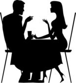 Silhouette of a couple — Stock Vector