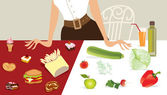 Diet choice — Vector de stock