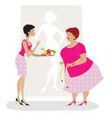 Diet advice — Stock Vector