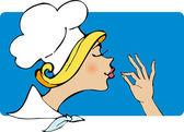Lady Chef — Vecteur