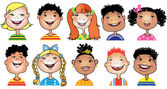 Dessin animé enfants — Vecteur