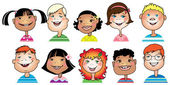 Kinderen cartoon — Stockvector
