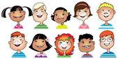 Los niños de dibujos animados — Vector de stock