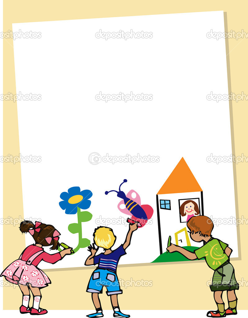Kids draw for Mother — Stock Vector #6827586