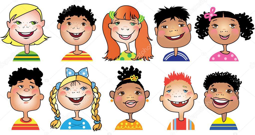 Meninos E Meninas De Nacionalidades Diferentes Childre: Stock Vector © V.G. #6827588
