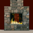 Fireplace - Stock Vector