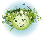 Green Earth — Stock Vector